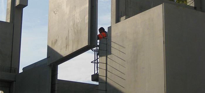 Joint de panneaux préfabriqués béton coupe-feu