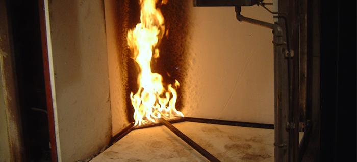Réaction au feu d'un produit