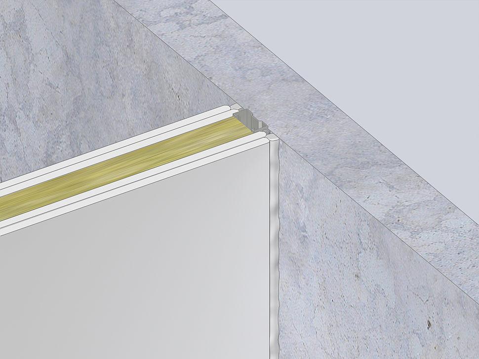 aansluiting massieve wand met metalstud | FS701 Brandwerende Acrylaatkit