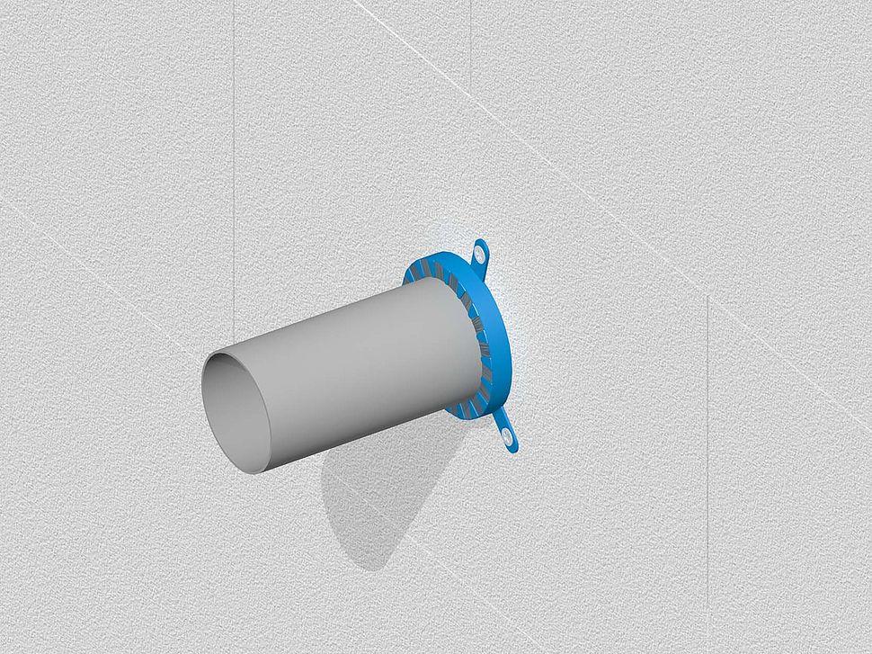 Nullifire | FP150 brandmanchet | kunststof buis door wand