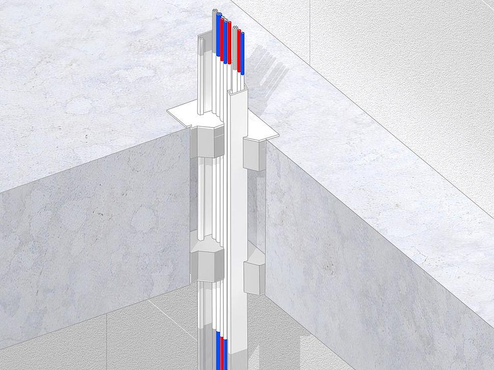 Nullifire | kabelgoten/kabelladders voorzien van kabels door vloer