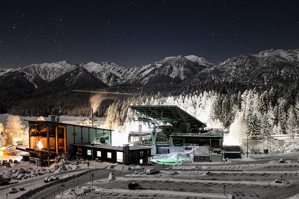 Protection incendie du téléphérique Zugspitze à Grainau avec Nullifire