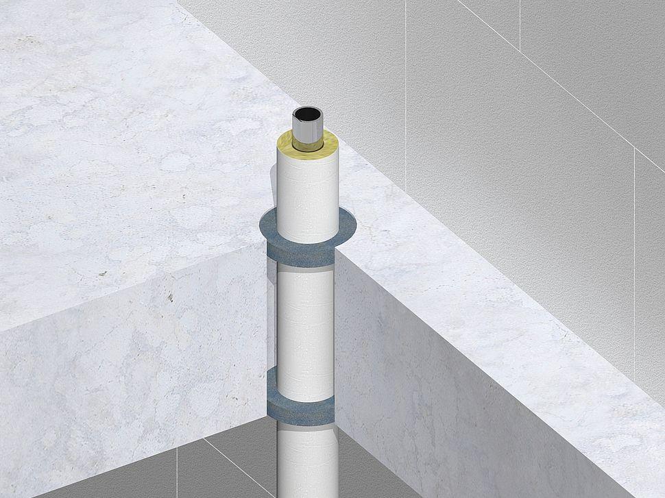 Nullifire FS705 metalen buis glaswol isolatie