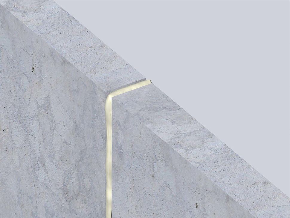 FF197 brandwerend schuim - massieve muur- muuraansluiting (verticaal)