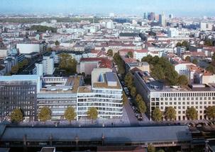 """Une protection passive contre l'incendie de la charpente acier de la toiture réussie du """"Forum du miracle économique"""" à Berlin"""